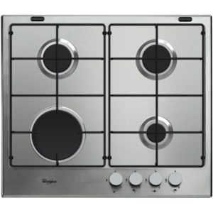 Whirlpool GMA6411IX 59cm Four Burner Gas Hob – STAINLESS STEEL