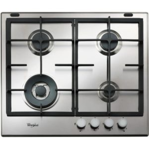 Whirlpool GMA6422IX 59cm Four Burner Gas Hob – STAINLESS STEEL