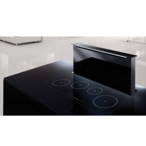 Air Uno ZAIRA BLACK GLASS 90cm Downdraft Extractor – BLACK