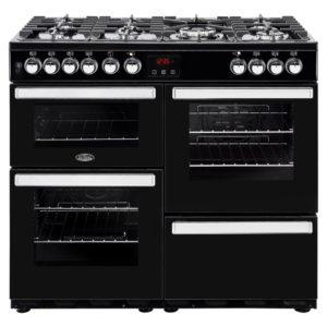Belling COOKCENTRE 100DFTBLK 4083 100cm Dual Fuel Range Cooker – BLACK