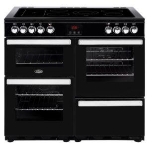 Belling COOKCENTRE 100EBLK 4086 100cm Ceramic Range Cooker – BLACK