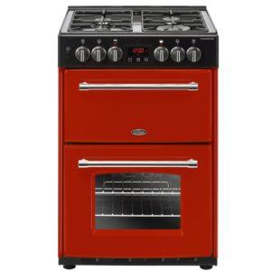Belling FARMHOUSE 60DFHJA 4715 60cm Freestanding Dual Fuel Cooker – RED