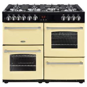 Belling FARMHOUSE 100DFTCRM 4135 100cm Dual Fuel Range Cooker – CREAM