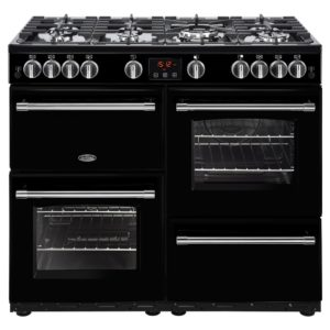Belling FARMHOUSE 100GBLK 4139 100cm Gas Range Cooker – BLACK
