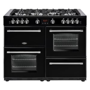 Belling FARMHOUSE 110DFTBLK 4145 110cm Dual Fuel Range Cooker – BLACK