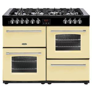 Belling FARMHOUSE 110DFTCRM 4147 110cm Dual Fuel Range Cooker – CREAM