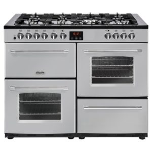 Belling FARMHOUSE 110DFTSIL 4146 110cm Dual Fuel Range Cooker – SILVER