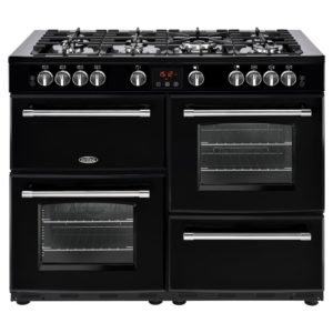 Belling FARMHOUSE 110GBLK 4151 110cm Gas Range Cooker – BLACK