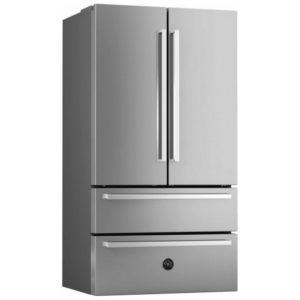 Bertazzoni REF90XP Professional Series French Style Fridge Freezer Non Ice & Water – STAINLESS STEEL