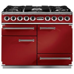 Falcon F1092DXDFRD/NM 1092 Deluxe Dual Fuel Range Cooker – RED