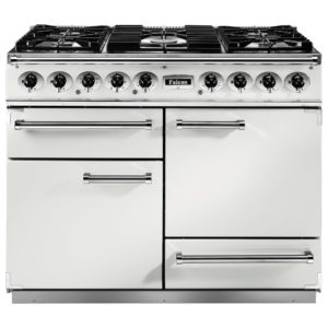 Falcon F1092DXDFWH/NM 1092 Deluxe Dual Fuel Range Cooker – WHITE