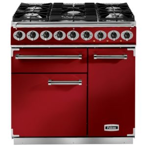 Falcon F900DXDFRD/NM 900 Deluxe Dual Fuel Range Cooker – RED