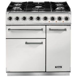 Falcon F900DXDFWH/NM 900 Deluxe Dual Fuel Range Cooker – WHITE