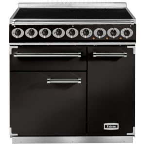 Falcon F900DXEIBL/B 900 Deluxe Electric Induction Range Cooker – BLACK