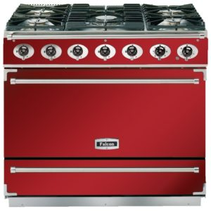 Falcon F900SDFRD/NM 90cm Single Cavity Dual Fuel Range Cooker – RED