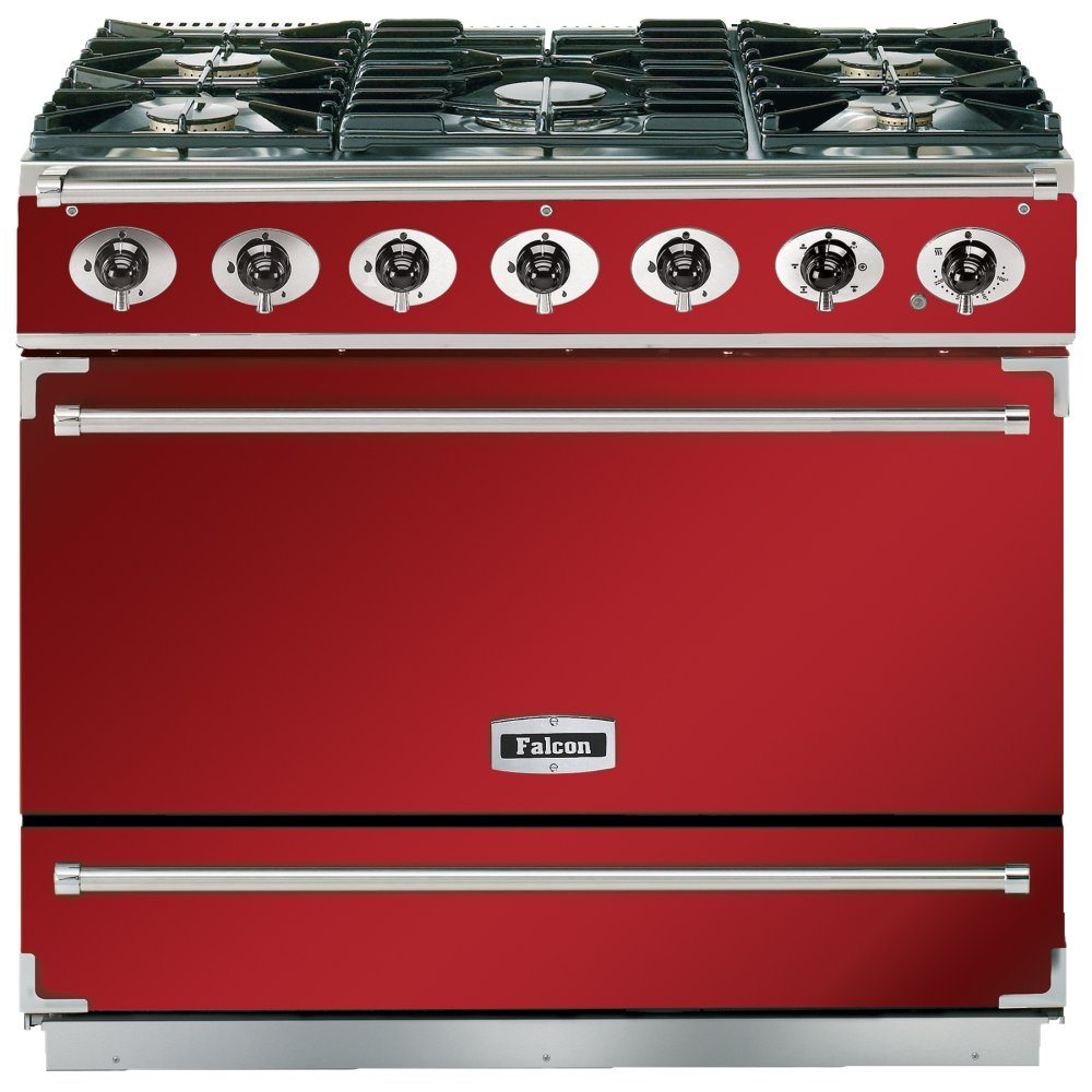 Falcon F900SDFRD/NM 90cm Single Cavity Dual Fuel Range Cooker - RED