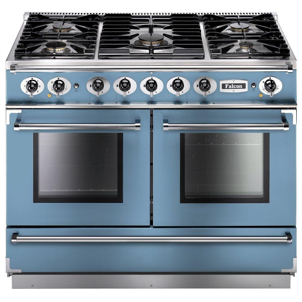 Falcon FCON1092DFCA/NM Continental 1092 Dual Fuel Range Cooker - BLUE