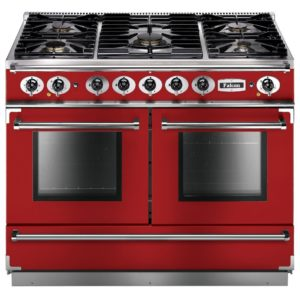 Falcon FCON1092DFRD/NM Continental 1092 Dual Fuel Range Cooker – RED