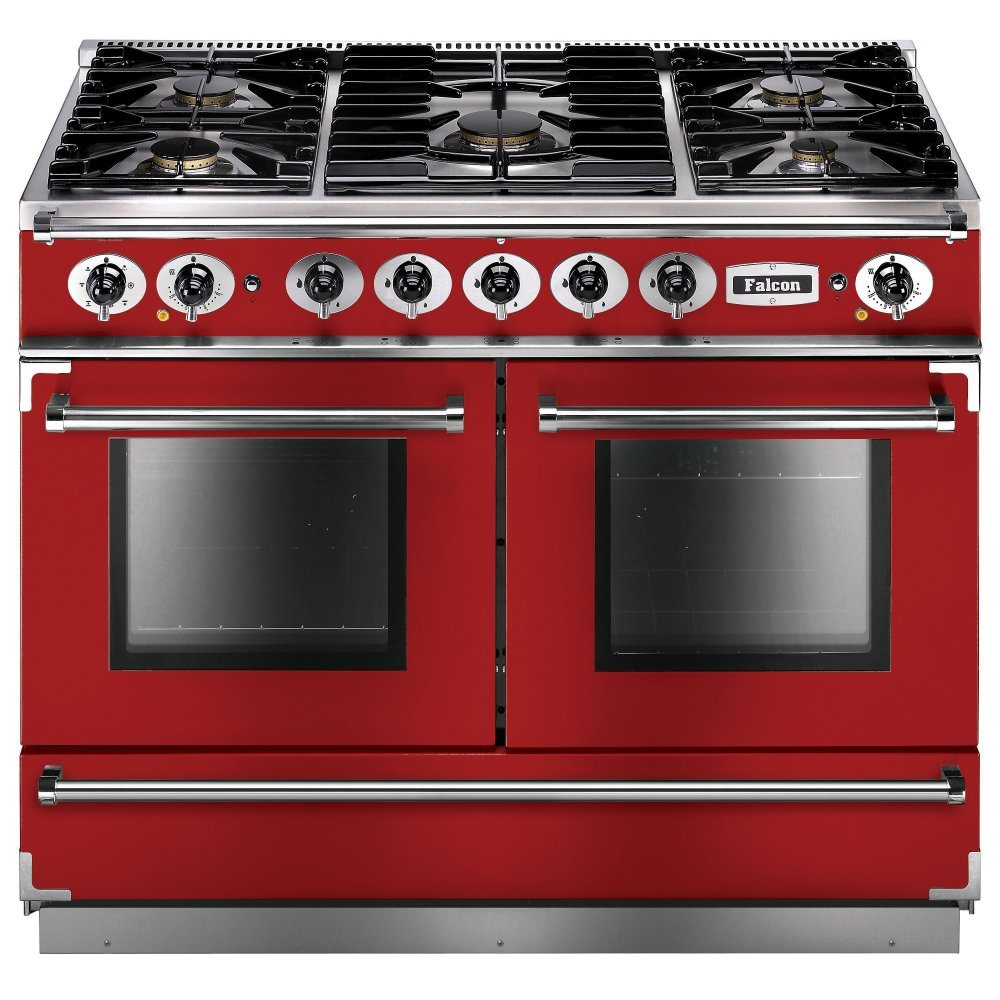 Falcon FCON1092DFRD/NM Continental 1092 Dual Fuel Range Cooker - RED