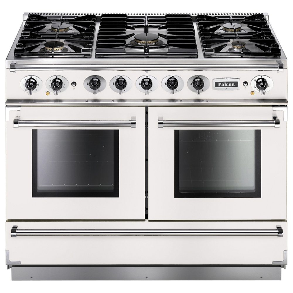 Falcon FCON1092DFWH/NM Continental 1092 Dual Fuel Range Cooker - WHITE