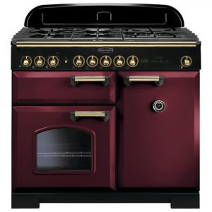 Rangemaster CDL100DFFCY/B Classic Deluxe 100cm Dual Fuel Range Cooker 115560 – CRANBERRY