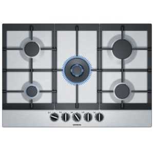 Siemens EC7A5RB90 IQ-500 75cm 5 Burner StepFlame Gas Hob – STAINLESS STEEL