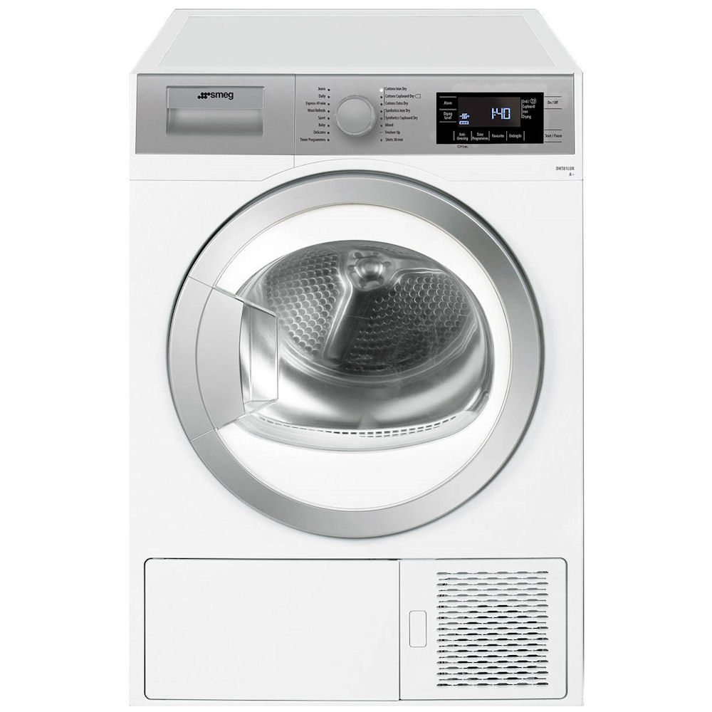 Smeg DHT81LUK 8kg Heat Pump Condenser Tumble Dryer - WHITE