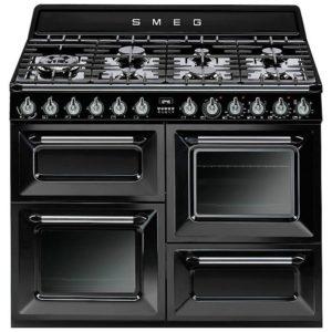 Smeg TR4110BL1 110cm Victoria Dual Fuel Range Cooker – BLACK