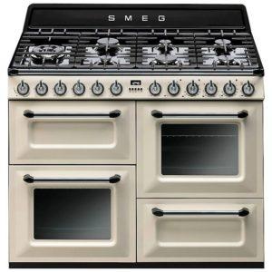 Smeg TR4110P1 110cm Victoria Dual Fuel Range Cooker – CREAM