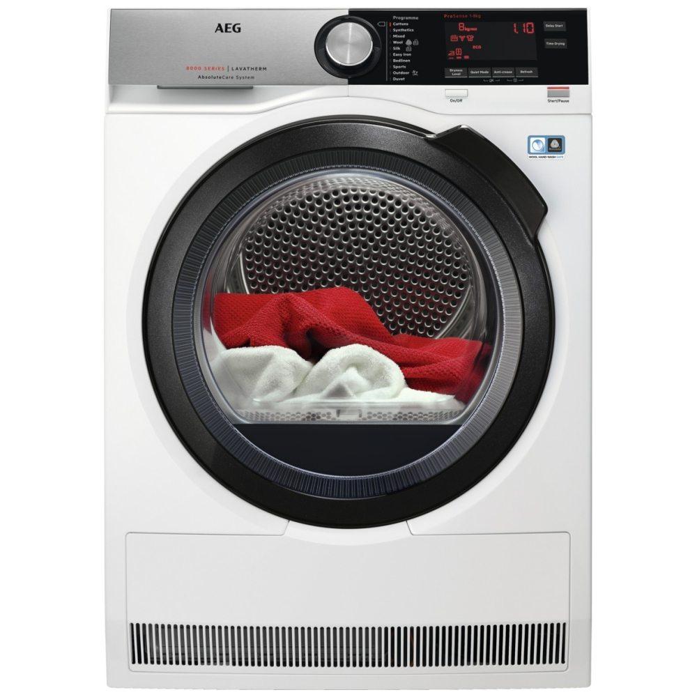 AEG T8DSC869C 8kg Heat Pump Condenser Tumble Dryer - WHITE
