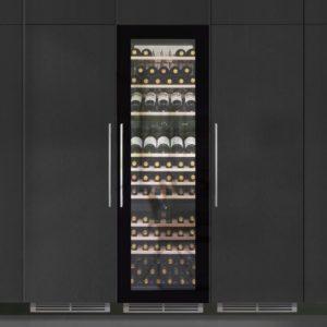 Caple WC1795 179cm Integrated In Column Triple Zone Wine Cooler – BLACK