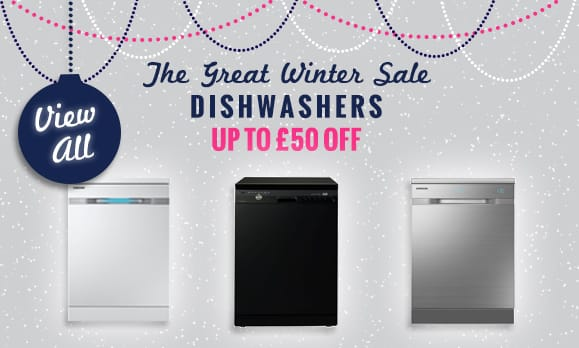 The Great Winter Sale NOW ON! - up to £50 off Dishwashers | Appliance City