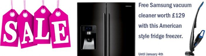 Samsung Fridge Freezer with free vacuum cleaner