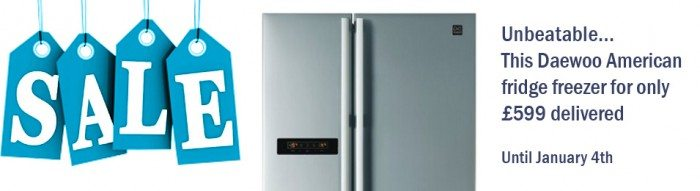£599 delivered.. unbeatable American Style Fridge Freezer