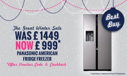 Panasonic NR-B53V2-XB - American Style Fridge Freezer With Ice & Water Just £999* | Appliance City