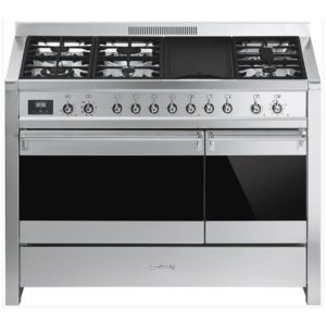 Smeg A3-81 120cm 'Opera' Dual Fuel Range Cooker – STAINLESS STEEL