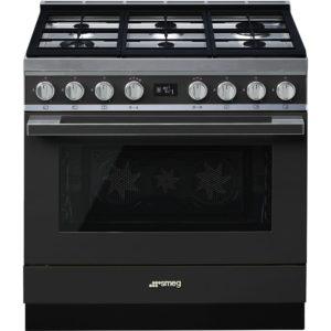Smeg CPF9GPAN 90cm Portofino Pyrolytic Dual Fuel Range Cooker – ANTHRACITE