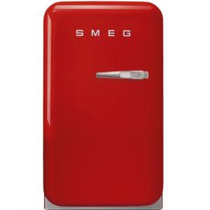 Smeg FAB5LRD 40cm Retro Mini Bar Fridge Left Hand Hinge – RED