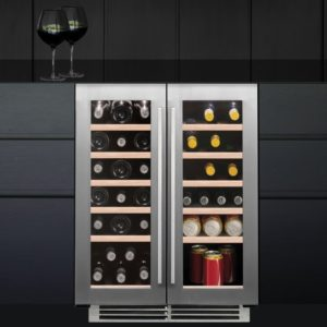 Caple WI6232 60cm Undercounter Dual Zone Wine Cooler – STAINLESS STEEL