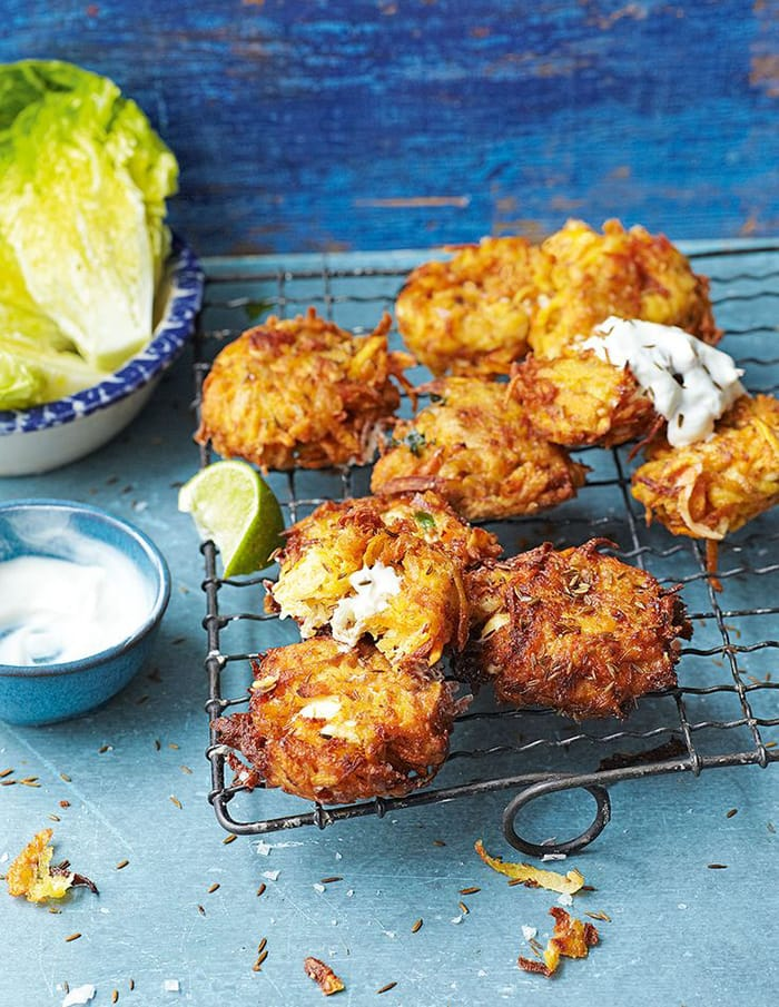 Fritter Day - Recipes - Appliance City - Carrot Sweet Potato and Feta Fritters