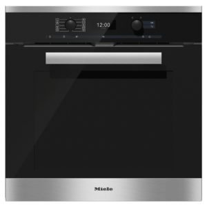 Miele H6460BPCLST-EX DISPLAY 3880 Pureline Built In Pyrolytic Single Oven – STAINLESS STEEL