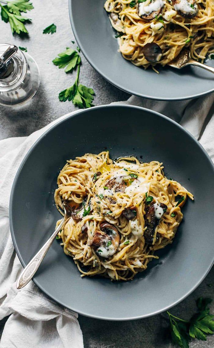 pasta recipes - spaghetti day - mushroom creamy pasta - appliance city