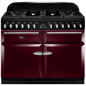 AGA Masterchef MENXSFCBY 110cm Dual Fuel Range Cooker – CRANBERRY