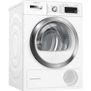 Bosch WTWH7561GB 9kg Serie 8 Heat Pump Condenser Tumble Dryer – WHITE