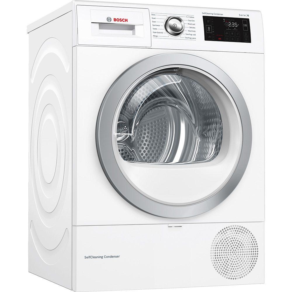 Bosch WTWH7660GB 9kg Serie-6 Heat Pump Condenser Tumble Dryer - WHITE