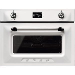 Smeg SF4920MCB1 Victoria Built In Combination Microwave – WHITE