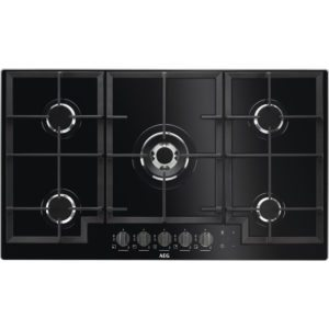 AEG HKB95540NB 90cm 5 Burner Gas On Glass Hob – BLACK