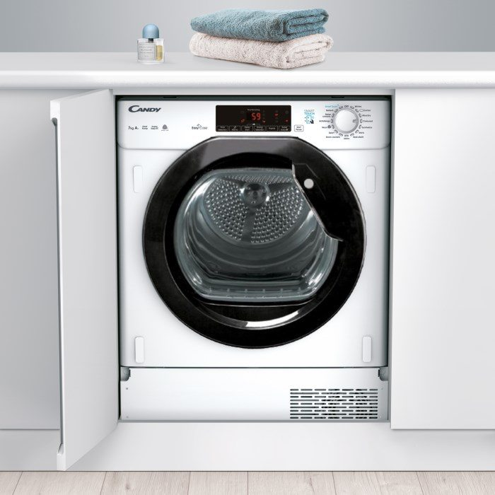 Candy CTDBH7A1TBE 7kg Integrated Heat Pump Condenser Tumble Dryer - WHITE