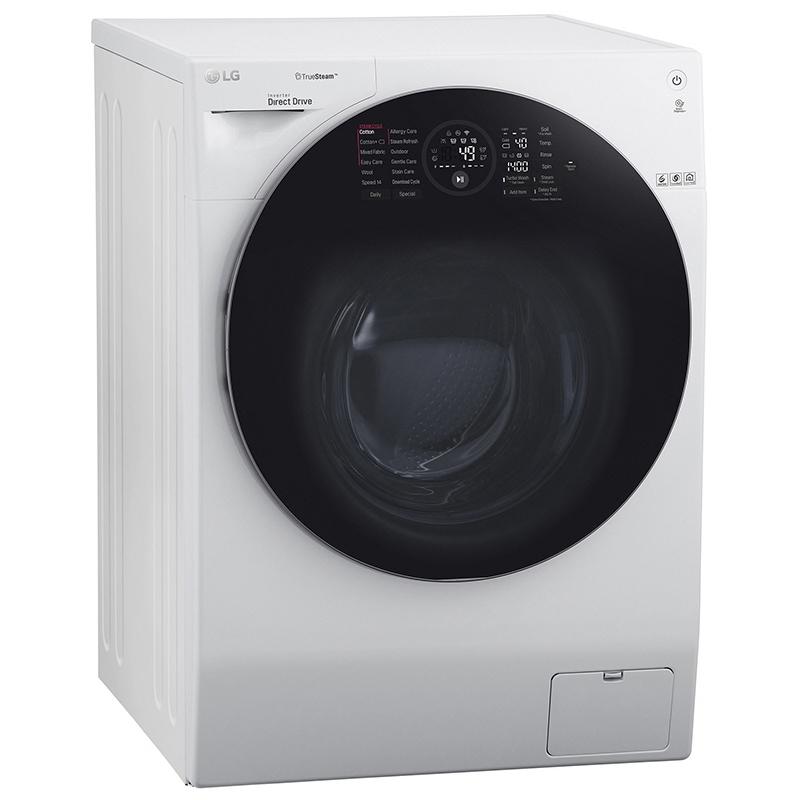 LG FH4G1BCS2 12kg Direct Drive TrueSteam Washing Machine 1400rpm - WHITE