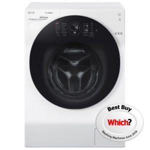 LG FH4G1BCS2 12kg Direct Drive TrueSteam Washing Machine 1400rpm – WHITE